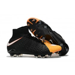 Nike Zapatos de Fulbol Hypervenom Phantom 3 DF FG Negro Naranja