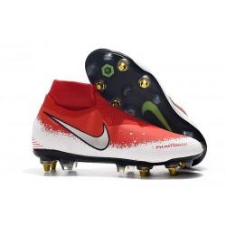 Nike Phantom VSN Elite DF SG-Pro Anti Clog Botas Rojo Blanco