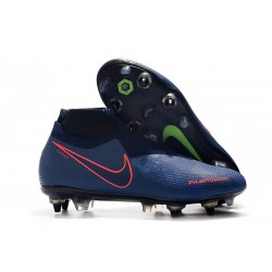 Nike Phantom VSN Elite DF SG-Pro Anti Clog Botas Azul Real Rojo