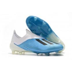 Botas de Fútbol adidas X 18+ FG - Azul Blanco Negro