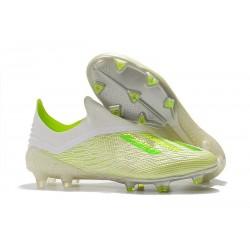 Botas de Fútbol adidas X 18+ FG - Blanco Verde