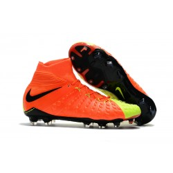Nike Zapatos de Fulbol Hypervenom Phantom 3 DF FG Naranja Verde