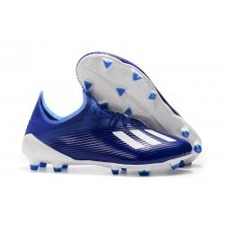 Tacos de Futbol adidas X 19.1 FG Azul Blanco