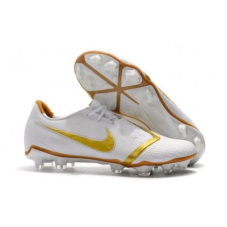 Zapatillas de Fútbol Nike Phantom Venom Elite FG Blanco Oro
