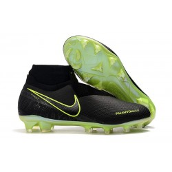Nike Phantom Vision Elite FG Zapatillas de Fútbol Negro Amarillo Fluorescente