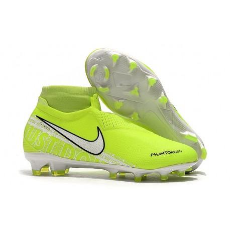 Nike Phantom Vision Elite FG Amarillo Fluorescente Blanco