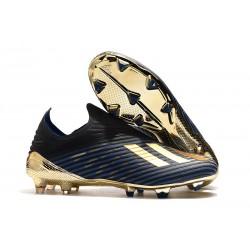 adidas X 19 + FG Zapatos de Fútbol Negro Oro Azul