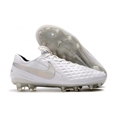Zapatillas de Fútbol Nike Tiempo Legend 8 FG - Blanco Platino Gris