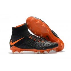 Botas de Futbol Nike Hypervenom Phantom 3 DF FG Negro Naranja