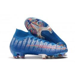 Botas Nike Mercurial Superfly 7 Elite FG Azul Rojo