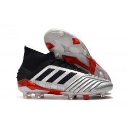 Botas y Zapatillas de Fútbol adidas Predator 19.1 FG - Metal Negro Rojo