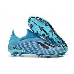 adidas X 19 + FG Zapatos de Fútbol Cian Brillante Negro