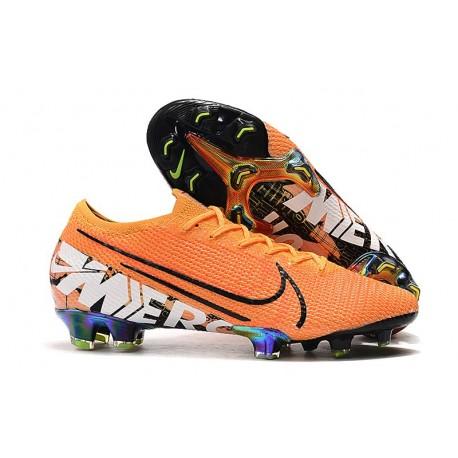 Botas de fútbol Nike Mercurial Vapor 13 Elite FG Naranja Blanco