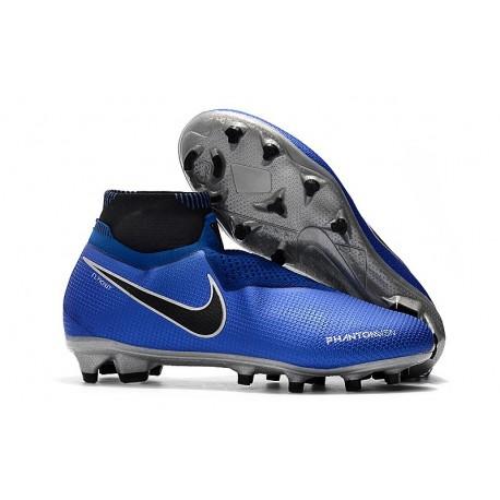 Nike Phantom Vision Elite DF FG Bota de Fútbol - Azul Negro