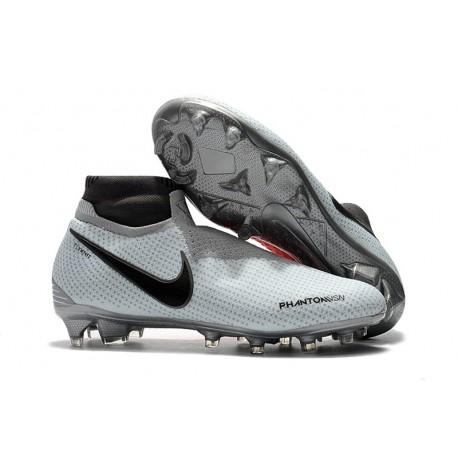 Nike Phantom Vision Elite DF FG Bota de Fútbol - Gris Rojo