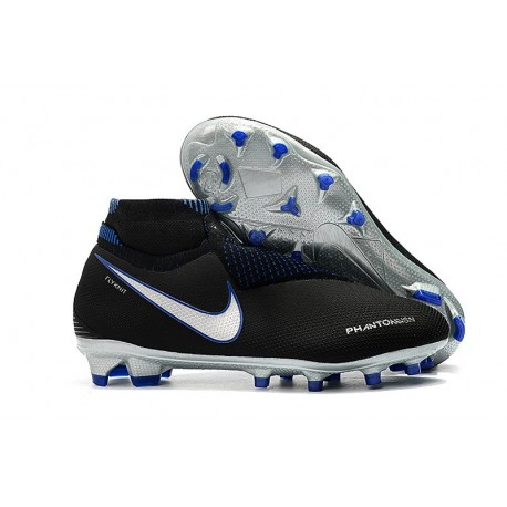 Nike Phantom Vision Elite DF FG Bota de Fútbol - Negro Azul