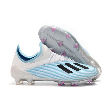 Tacos de Futbol adidas X 19.1 FG Azul Blanco Negro