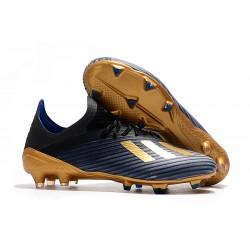 Tacos de Futbol adidas X 19.1 FG Azul Negro Oro