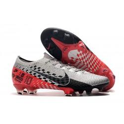 Botas de fútbol Nike Mercurial Vapor 13 Elite FG NJR Platino Negro Rojo