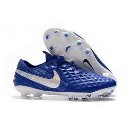 Zapatillas de Fútbol Nike Tiempo Legend 8 FG - Azul Blanco