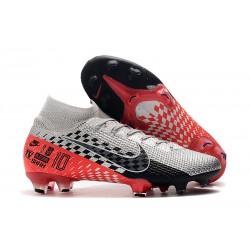 Botas Nike Mercurial Superfly 7 Elite FG Neymar Cromado Negro Rojo Platino