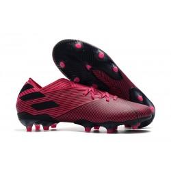 Zapatos de fútbol adidas Nemeziz Messi 19.1 FG Rosa Negro