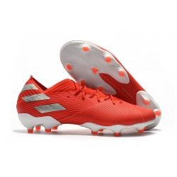 Zapatos de fútbol adidas Nemeziz Messi 19.1 FG Rojo Plata