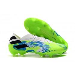 Zapatos de fútbol adidas Nemeziz Messi 19.1 FG Blanco Verde