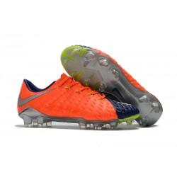Nike HYPERVENOM PHANTOM 3 FG - Botas de fútbol con tacos - Naranja Azul Oscuro