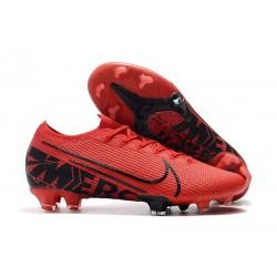 Botas de fútbol Nike Mercurial Vapor 13 Elite FG Rojo Negro