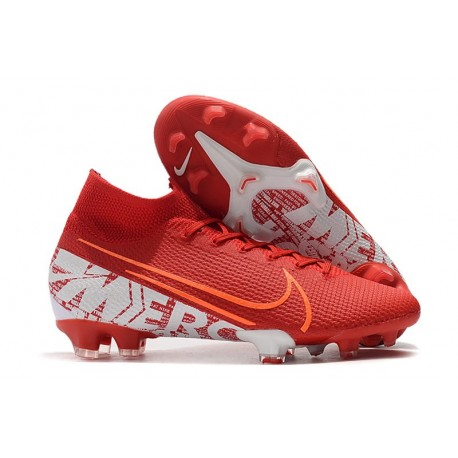 Botas Nike Mercurial Superfly 7 Elite FG Rojo Blanco