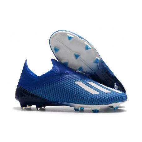 adidas X 19 + FG Zapatos de Fútbol Azul Blanco