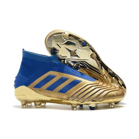 adidas X 19 + FG Zapatos de Fútbol Oro Azul