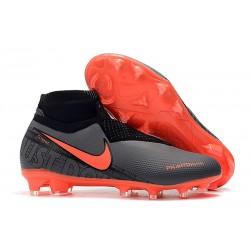 Nike Phantom Vision Elite FG Zapatillas de Fútbol Negro Rojo
