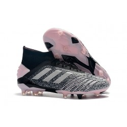 adidas Predator 19+ FG Zapatillas de Futbol Gris Plata Rosa