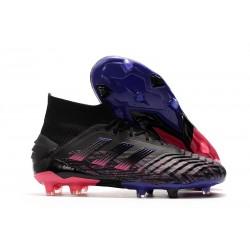 adidas Predator 19+ FG Zapatillas de Futbol Negro Rosa Azul