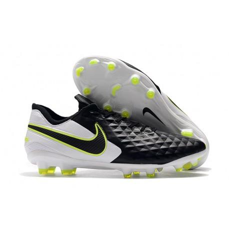 Zapatillas de Fútbol Nike Tiempo Legend 8 FG - Negro Blanco Voltio