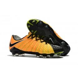Nike HYPERVENOM PHANTOM 3 FG - Botas de fútbol con tacos - Amarillo Negro