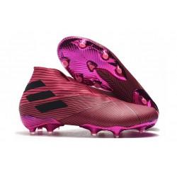 Bota de Fútbol adidas Nemeziz 19+ FG Hombres Rosa Nego