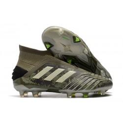 adidas Predator 19+ FG Zapatillas de Futbol Verde Arena Amarillo
