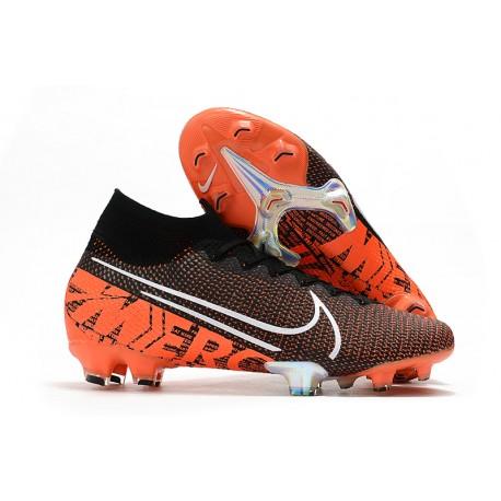 Nike Zapatillas de Fútbol Mercurial Superfly VII Elite FG Negro Blanco Hyper Crimson