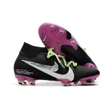Nike Zapatillas de Fútbol Mercurial Superfly VII Elite FG Negro Blanco Violeta