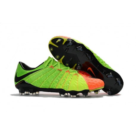 90750dabdf0ad Zapatos de Futbol Nike Hypervenom Phantom III FG ACC Naranja Verde