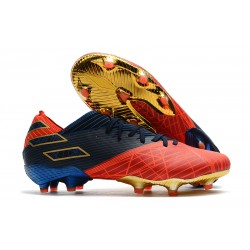 Zapatos de fútbol adidas Nemeziz Messi 19.1 FG X Marvel Rojo Azul Negro