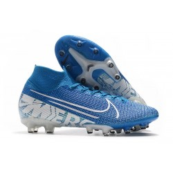 Nike Mercurial Superfly VII Elite AG-Pro Azul Blanco