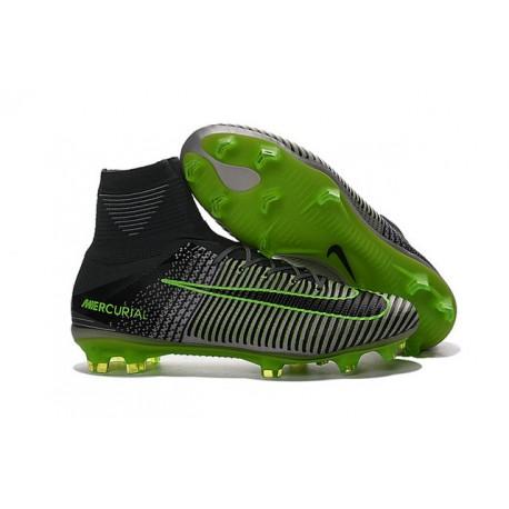 low priced f8e34 9a2ce Botas de Fútbol Nike Mercurial Superfly V DF FG - Gris Negro Verde