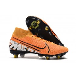 Nike Mercurial-Superfly VII Elite-SG PRO Anti Clog Naranja Blanco