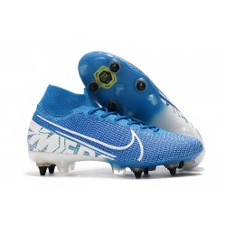 Nike Mercurial-Superfly VII Elite-SG PRO Anti Clog Azul Blanco