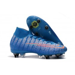 Nike Mercurial-Superfly VII Elite-SG PRO Anti Clog Azul Rojo