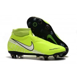 Nike Phantom VSN Elite DF SG-Pro Anti Clog Botas Amarillo Fluorescente Blanco